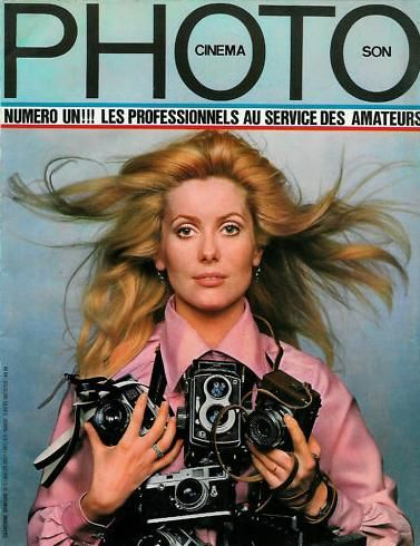 Catherine Deneuve para la portada del numéro 1 de la revista PHOTO (1967).